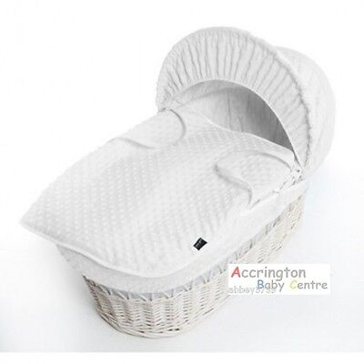 Reborn Baby Dimple Moses Basket Covers 4 Piece Set Inc Quilt,Skirt,Hood & Sheet