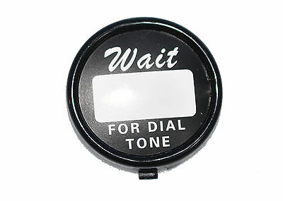 Western Electric Telephone Dial - Center card ring with backing plate and card