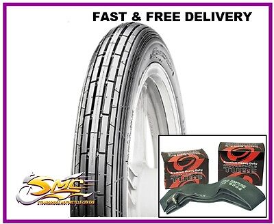 TYRE & TUBE 3.00x18 47P 3.00-18 300-18 CST classic vintage motorcycle tyre/tube