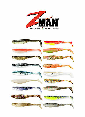 Z Man Scented PaddlerZ 5 inch Soft Body Paddle Tail Swimbait Lure 5 pack