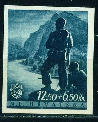 Croatia-Germany Axis WW2 Army Mountain Soldier 1941 MNH