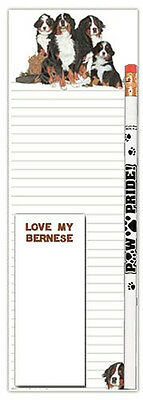Bernese Mountain Dog Notepad & Pencil Gift Set