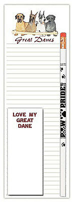 Great Dane Dog Notepads To Do List Pad Pencil Gift Set