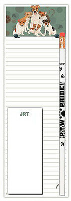 Jack Russell Terrier Dog Notepads To Do List Pad Pencil Gift Set