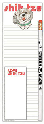 Shih Tzu Notepad & Pencil Gift Set Puppy Cut