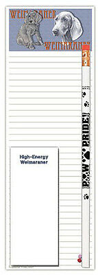 Weimaraner Dog Notepads To Do List Pad Pencil Gift Set