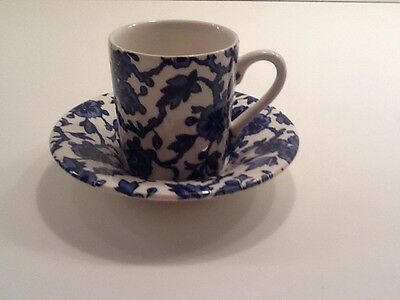 1 Burleigh Arden Demitasse After Dinner Cup & Saucer Made In England