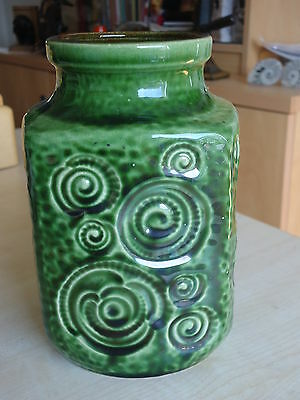 ** Vintage West German 1970s Retro Fat Lava Ceramic Vase **