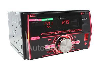 Pioneer FH-X500UI RB Double Din MP3/CD/WMA Player Pandora Front USB AUX Input
