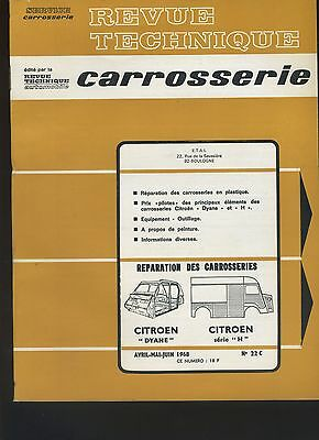 (32B) Revue Technique Automobile Service Carrosserie Citroen H Dyane