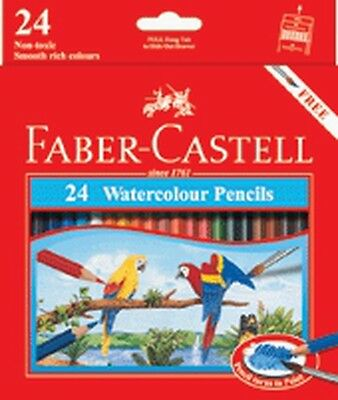 Faber-Castell Watercolour Pencils-Pack of 24