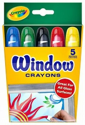 Crayola Washable Window Crayons-Pack of 5