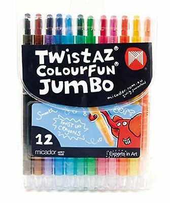 Micador Twistaz Jumbo Crayons-Pack of 12