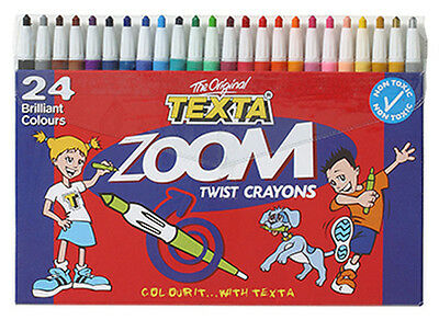 Texta Zoom Twist Assorted Crayons-Pack of 24