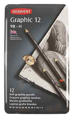 Derwent Graphite Soft Pencils H-9B Pack of 12