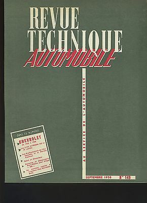 (34B) REVUE TECHNIQUE AUTOMOBILE  CHEVROLET 1955 à 1958 / CITROEN 2CV 425cc