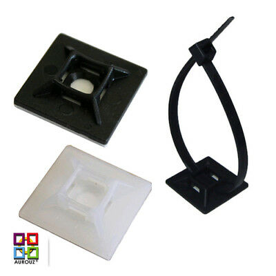 Self Adhesive Cable Tie Mounts Clips 19mm & 28mm