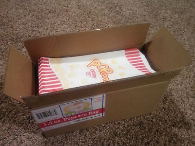 Case of 500 1.5oz Popcorn Bags