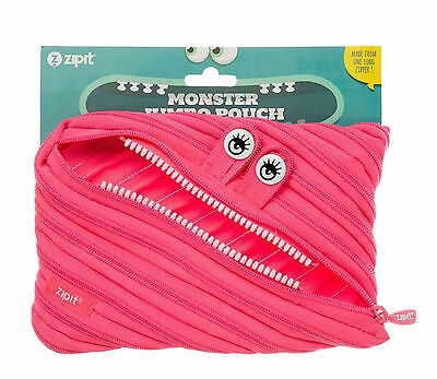 Zipit Monster Jumbo Pencil Case-Cecilia Hot Pink