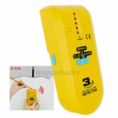 3-in-1 Detector Stud Metal AC Wire Scanner w/ Groove Buzzer & LED FREE Shipping