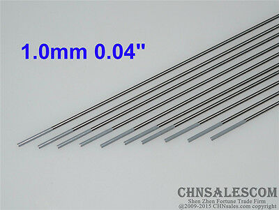 "10 pcs WC20 1.0X150mm 0.04""X6"" Ceriated Tungsten Electrode Grey"