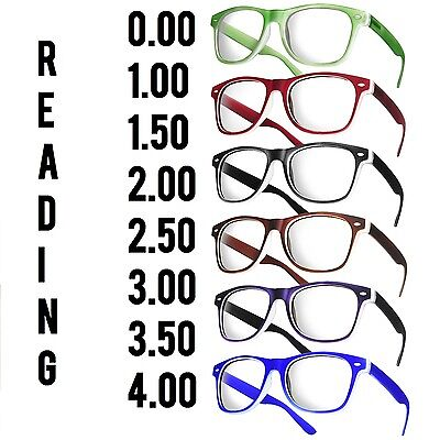 Reading Glasses +1.5 +2.5 Unisex  20 Models Trendy Designer Spring Geek