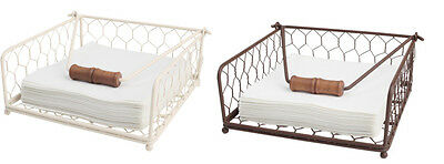 T&G Provence Napkin Holder In Cream Or Brown Wireware FREE DELIVERY 23017.47