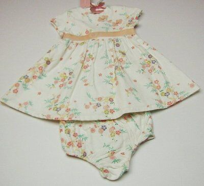 NEW Toddler Baby Girls 2 pc Dress Bloomers set size :3-6,6-9,12,18 Mo First Impr