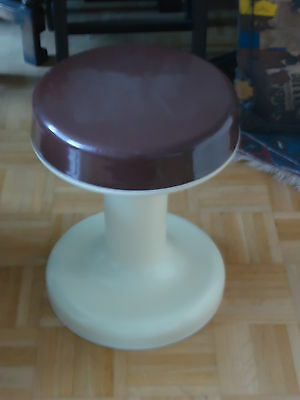Vintage German 1970s Retro Dressing Table Stool Chair Storage