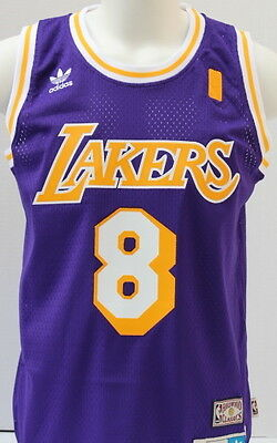 Kobe Bryant Los Angeles Lakers Purple Hardwood Classics #8 Throwback Jersey