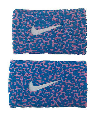 New Nike Nadal Doublewide Wristband Photo Blue / Lt. Magenta NNNB9508OS Tennis