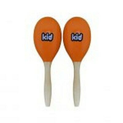 Kid 2 Maracas en bois - 19cm - Orange - + 4 ans