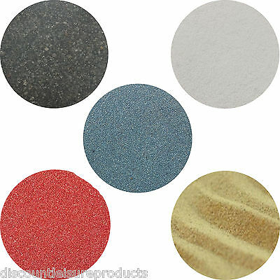 Aquarium Fish Tank Coloured Sand Substrate 1/2/5/10/25KG Black/White/Natural/Red