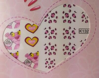 Pink Panther Nail Wraps Nail Art Water Transfer Decals Sticker Superior Quality