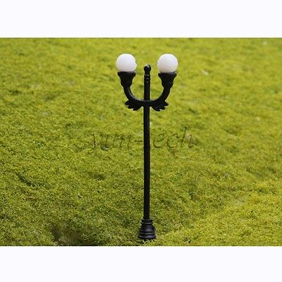 10pcs N Gauge 1:150 Scale Model Lamppost Scene Street Light up Decor