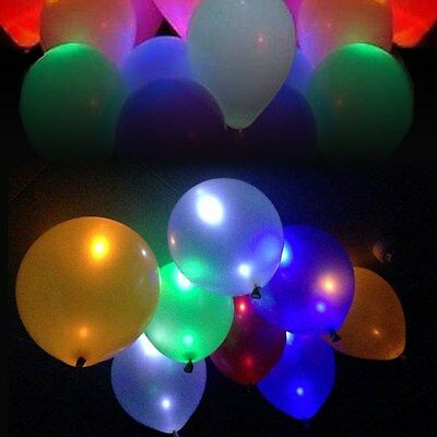 50pcs LED helium Air Mixed Colors Balloon Wedding Light Up Decoration Party US