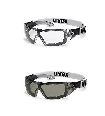 UVEX Pheos GUARD SV Extreme Safety Glasses / Spectacles - Clear / Smoke Lens