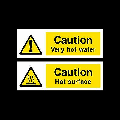 Very Hot Water/Hot Surface Plastic Sign or Sticker - All Sizes & Materials