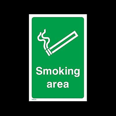 Designated Smoking Area Plastic Sign or Sticker - All Sizes & Materials (MISC50)
