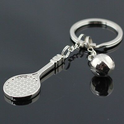 YS71 3D Sports Tennis Racket Keychain Keyring Key Chain Ring Key Fob Free Ship