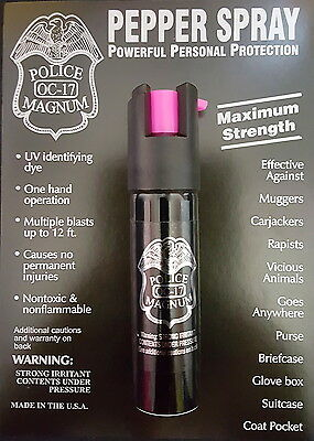 Police Magnum pepper spray 3/4oz HP Safety Lock Self Defense Security Protection