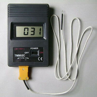 TM902C Digital LCD Thermometer Temperature Reader Meter Sensor  K Type Probe CN