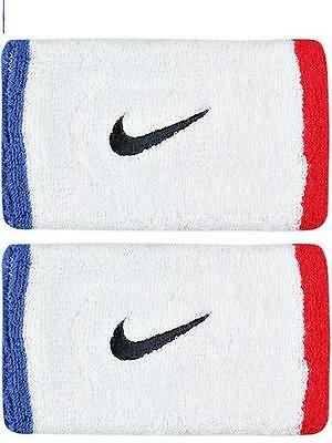 Tennis NIKE Federer Nadal 2011 exclusive wristbands red / white/ blue