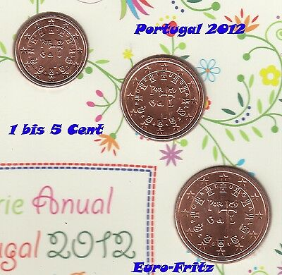 Portugal 2012 aus off. KMS 1 bis 5 Cent sehrselten ~**~