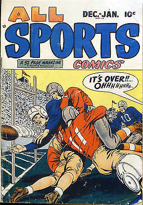 POSTER comics cover Hillman Periodicals All Sports  2   Vintage Wall Art Print A