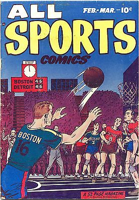POSTER comics cover Hillman Periodicals All Sports  3 Vintage Wall Art Print A3