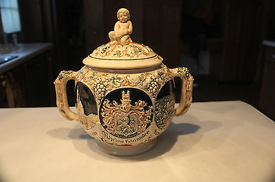 VINTAGE GERMAN PUNCH BOWL GREAT CONDITION STEIN BEER STUNNING!