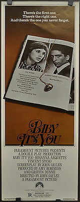 BABY IT'S YOU 1983 ORIGINAL 14X36, ROLLED INSERT,ROSANNA ARQUETTE,VINCENT SPANO