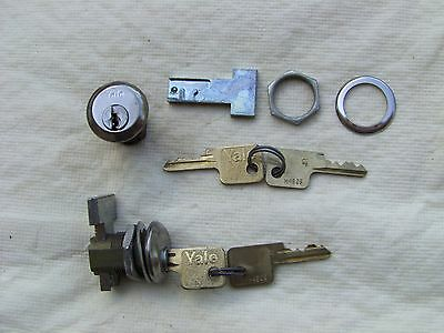 2 YALE  NOS VINTAGE CABINET DOOR DRAWER LOCKS      All locks  Keyed- differnt