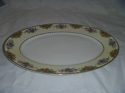 """15"""" Oval Serving Platter in the Beverly pattern by KPM"""